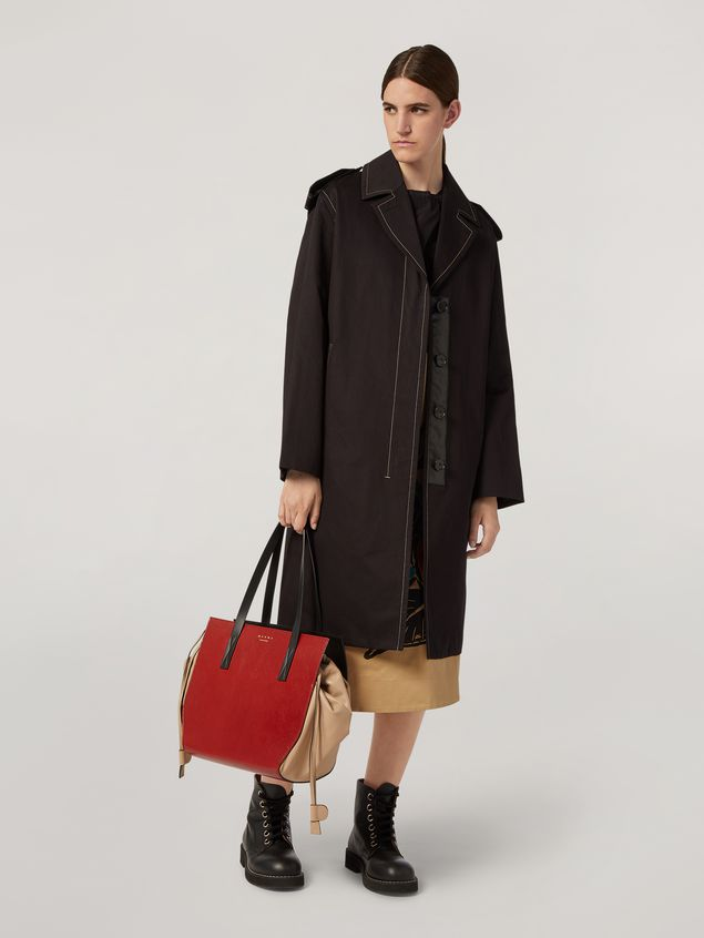 Marni GUSSET shopping bag in grained calf and nappa Woman - 2