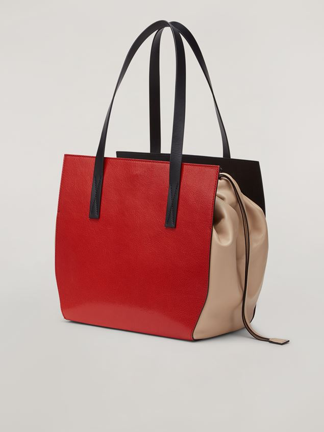 Marni GUSSET shopping bag in grained calf and nappa Woman - 3