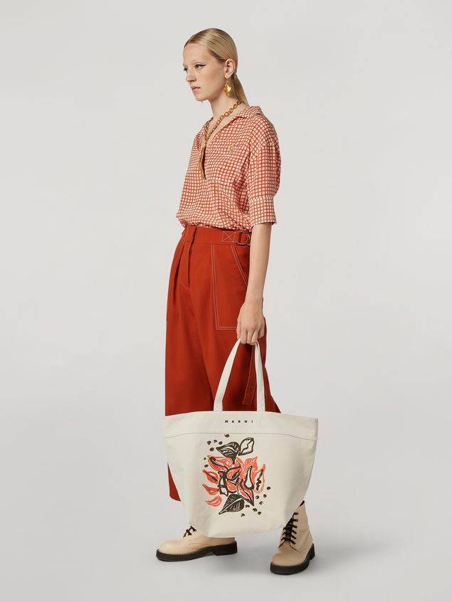 Marni HARLEM bag in canvas Jungle Liz print white Woman - 2