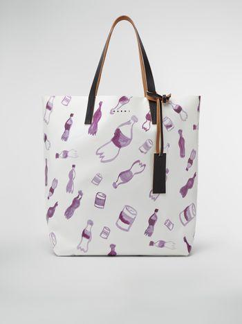 Marni Shopping bag in coated PVC Man f