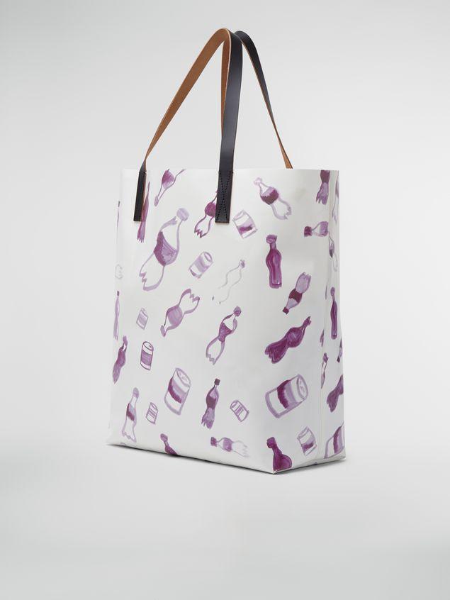 Marni Shopping bag in coated PVC Man