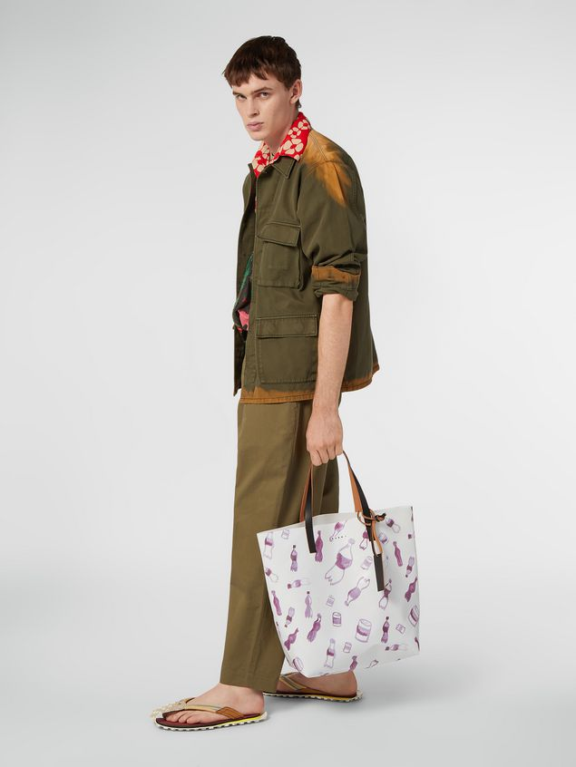 Marni Shopping bag in coated PVC Man - 2
