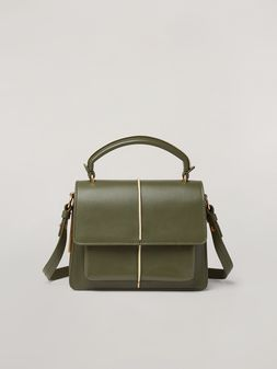 Marni ATTACHE' crossbody minibag in smooth calf green Woman