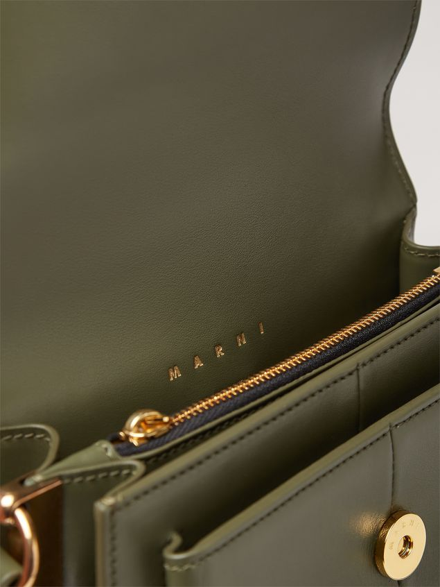 Marni ATTACHE' crossbody minibag in smooth calf green Woman - 5