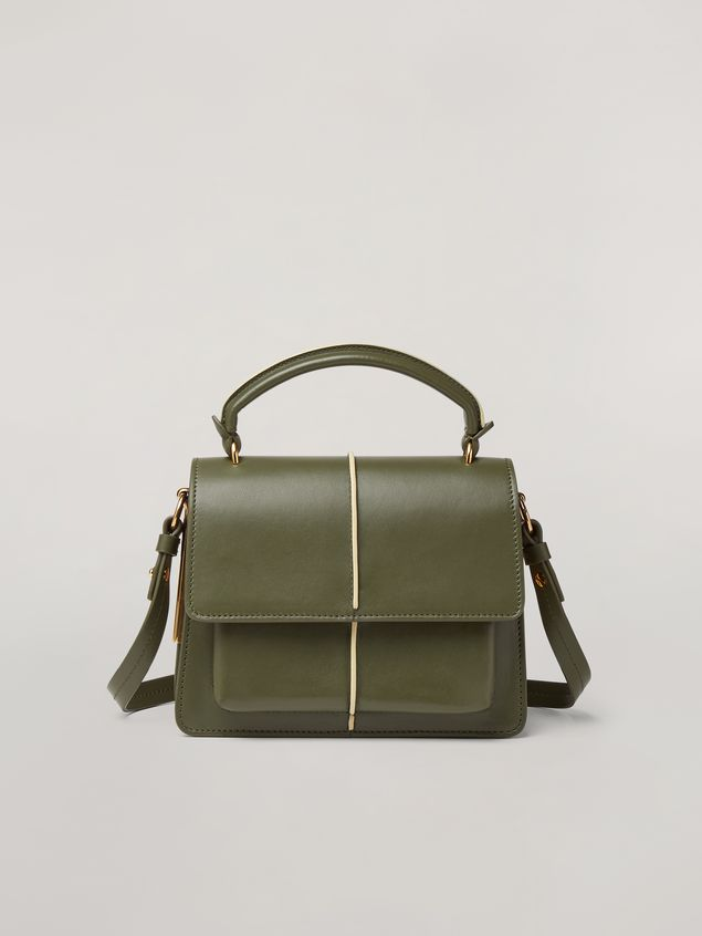 Marni ATTACHE' crossbody minibag in smooth calf green Woman - 1