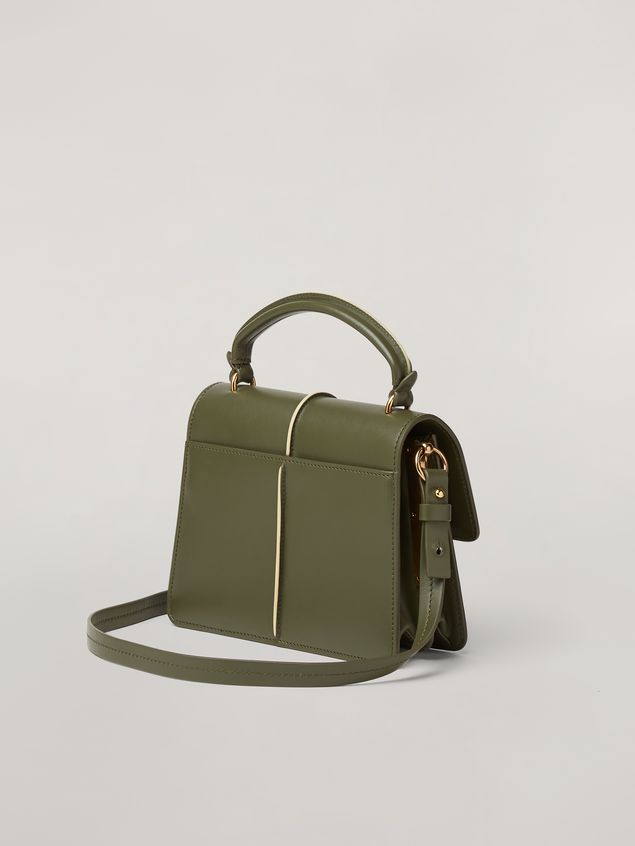 Marni ATTACHE' crossbody minibag in smooth calf green Woman - 3
