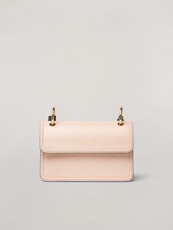Marni NEW BEAT bandoleer bag in calf and nappa pink green white and brown Woman