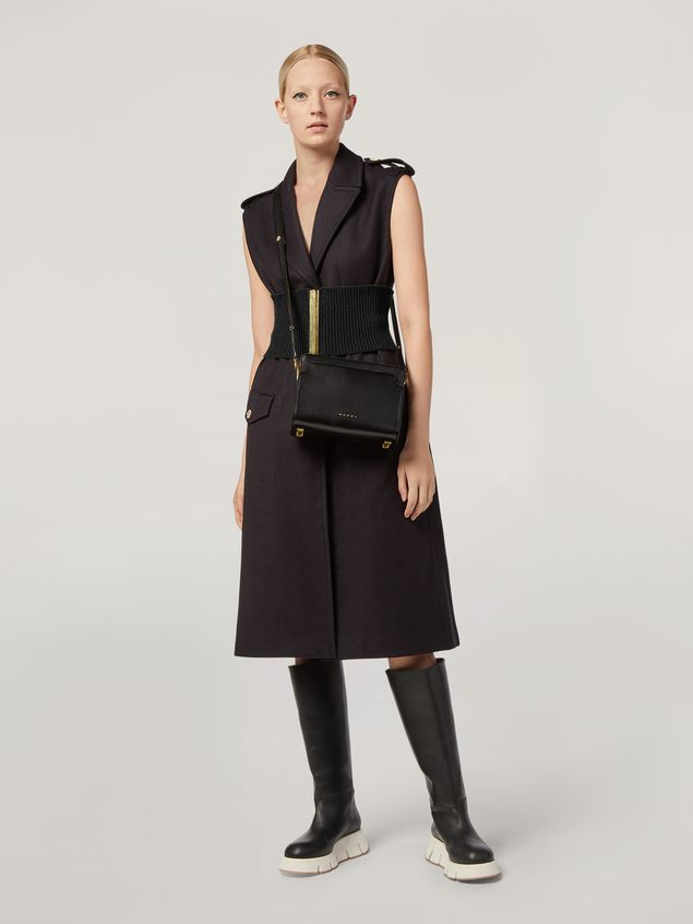 Marni TRUNK REVERSE shoulder bag in nappa calfskin black Woman - 2