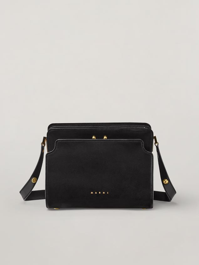 Marni TRUNK REVERSE shoulder bag in nappa calfskin black Woman - 1