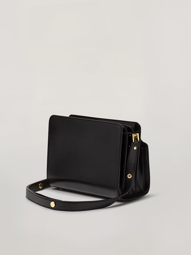 Marni TRUNK REVERSE shoulder bag in nappa calfskin black Woman - 3