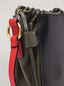 Marni GUSSET shoulder bag in calf and nappa black green and orange Woman - 5