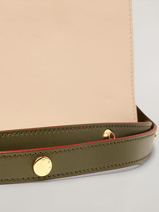 Marni TRUNK Bag aus glattem Kalbsleder in Rosa, Weiß und Grün Damen - 5