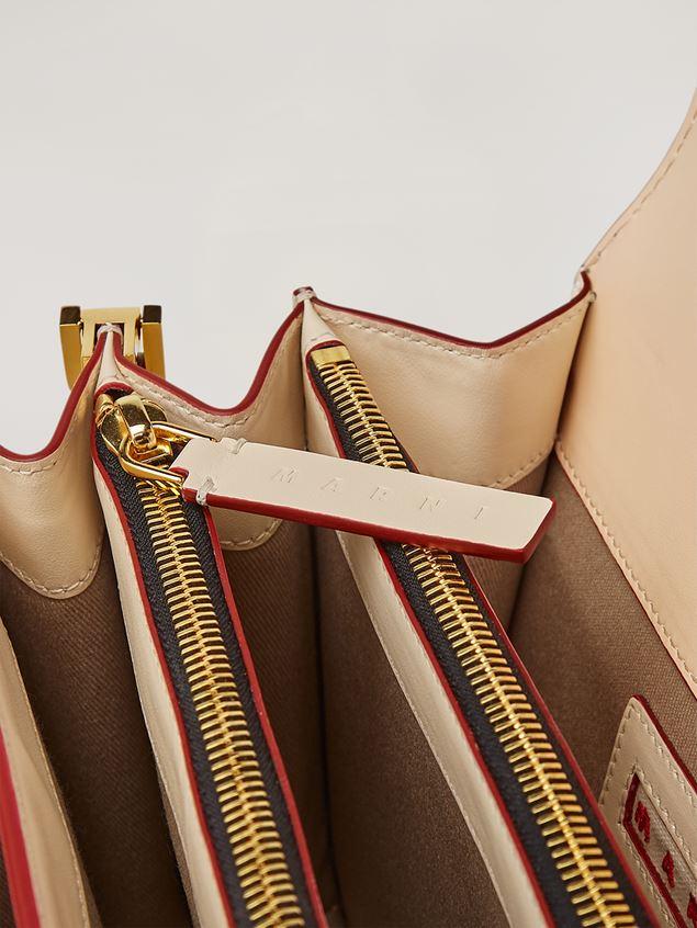 Marni TRUNK Bag aus glattem Kalbsleder in Rosa, Weiß und Grün Damen - 4