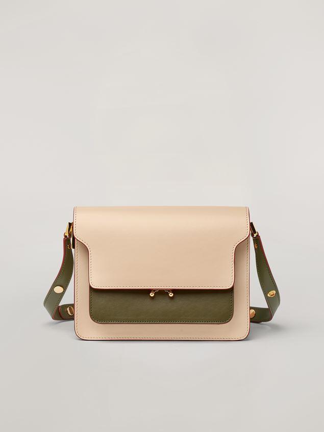 Marni TRUNK Bag aus glattem Kalbsleder in Rosa, Weiß und Grün Damen - 1