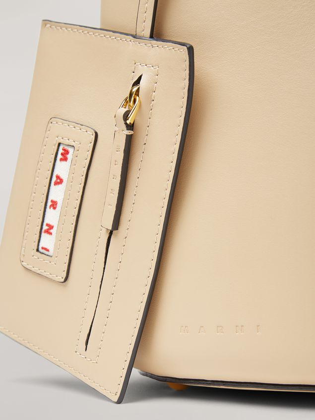 Marni PANNIER bag in calf leather with resin and metal handle white Woman - 5