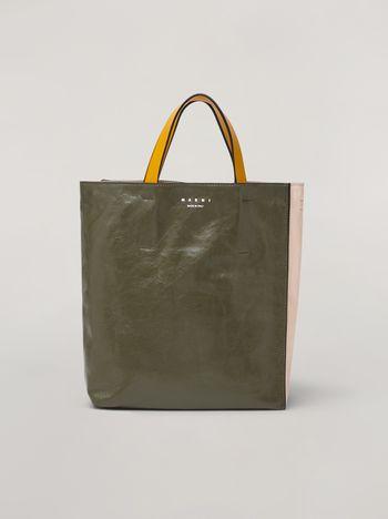 Marni Tasche MUSEO SOFT aus Kalbsleder in Grün, Rosa und Gelb Damen f