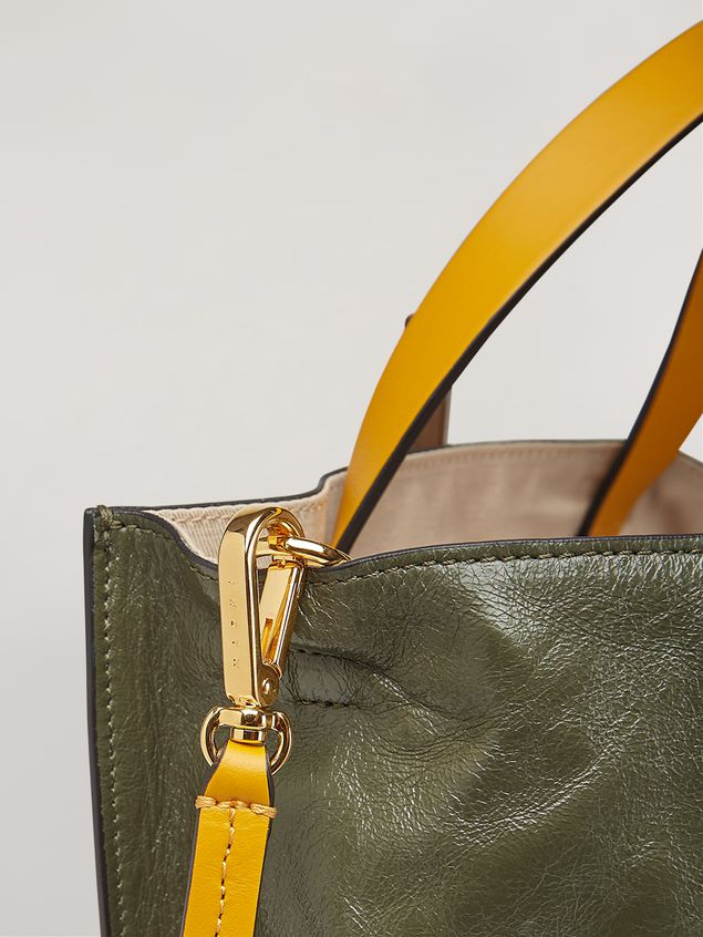 Marni MUSEO SOFT bag in calf leather green pink and yelllow Woman - 5