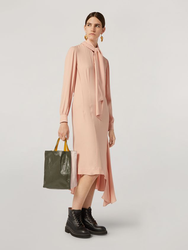 Marni MUSEO SOFT bag in calf leather green pink and yelllow Woman - 2