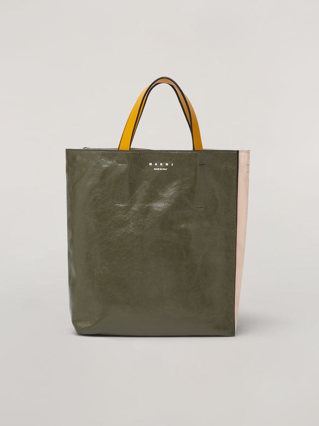 Marni MUSEO SOFT bag in calf leather green pink and yelllow Woman - 1