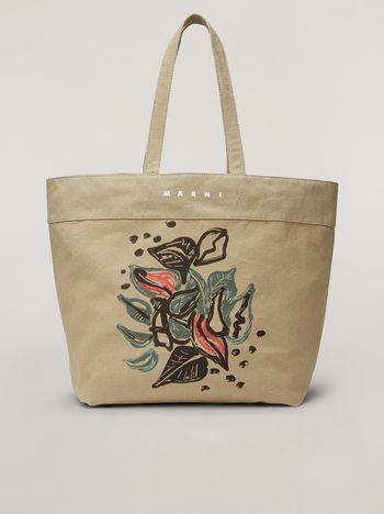 Marni Tasche HARLEM aus Canvas mit Jungle Liz-Print in Grün Damen f