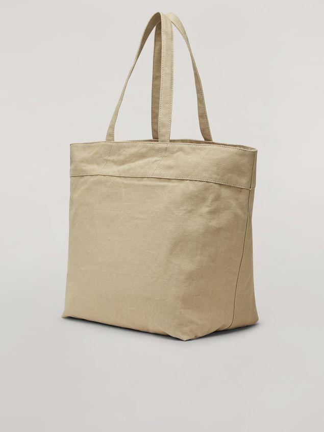 Marni HARLEM bag in canvas Jungle Liz print green Woman