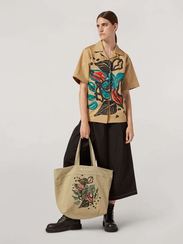 Marni Tasche HARLEM aus Canvas mit Jungle Liz-Print in Grün Damen - 2