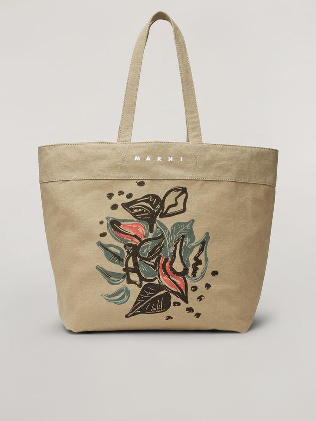 Marni HARLEM bag in canvas Jungle Liz print green Woman - 1