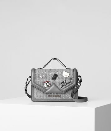 KARL LAGERFELD K/KLASSIK PINS SMALL SHOULDER BAG