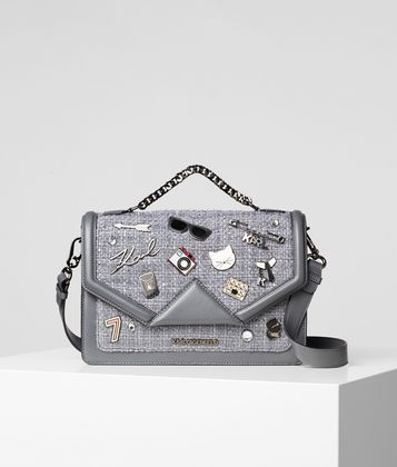 KARL LAGERFELD K/KLASSIK PINS SHOULDERBAG