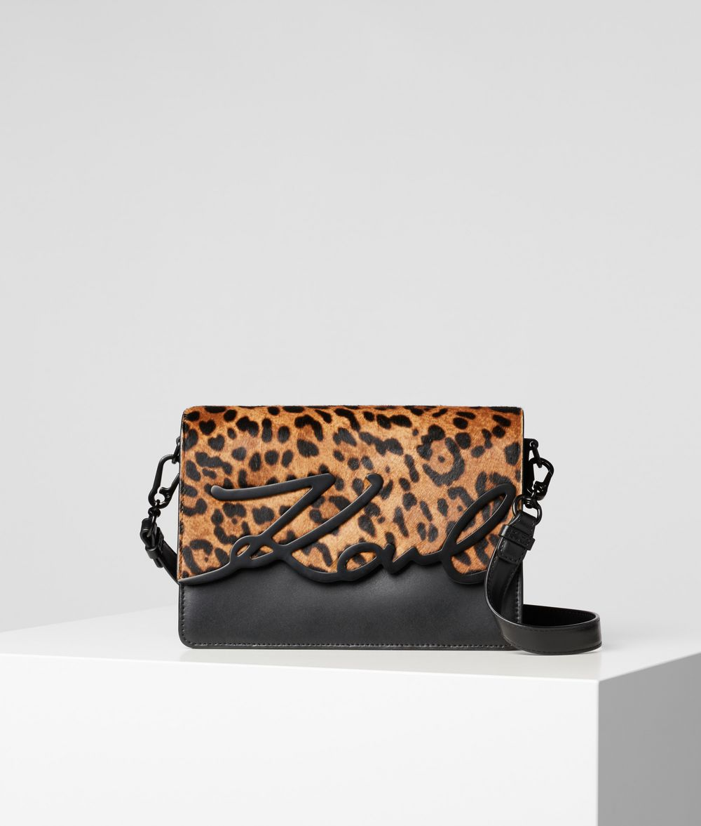KARL LAGERFELD K/Signature Leopard Shoulder Bag Shoulder bag Woman f