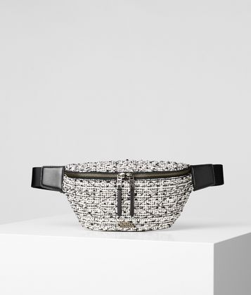 KARL LAGERFELD SAC BANANE EN TWEED K/KUILTED