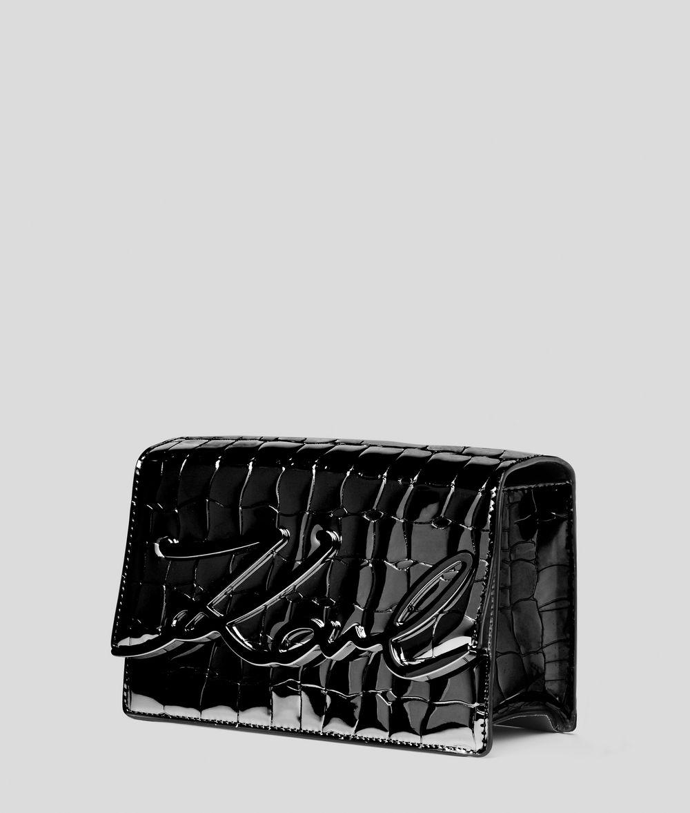KARL LAGERFELD K/Signature Croco Shoulder Bag Shoulder bag Woman d