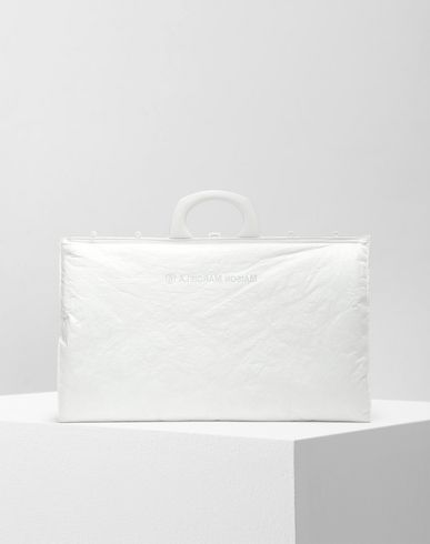 BAGS Logo padded shopping bag White