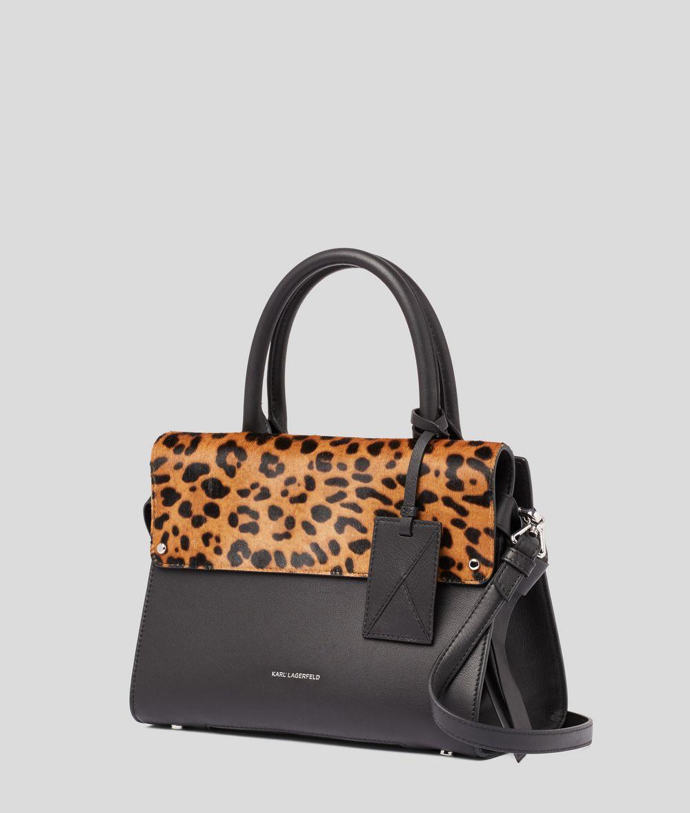 KARL LAGERFELD K/Ikon Small Leopard Top Handle Bag Handbag Woman d