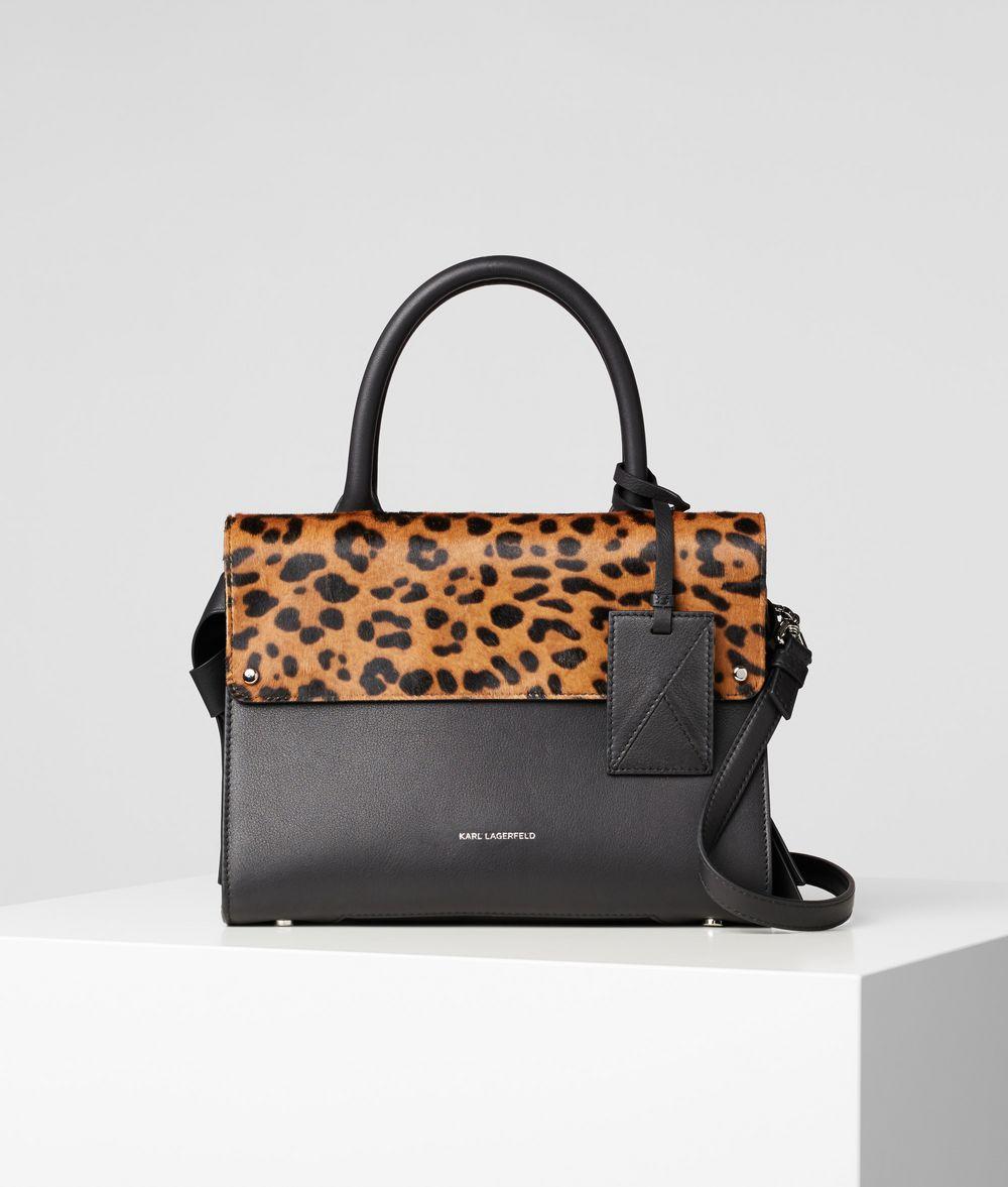 KARL LAGERFELD K/Ikon Small Leopard Top Handle Bag Handbag Woman f