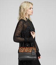 KARL LAGERFELD K/Ikon Small Leopard Top Handle Bag 9_f
