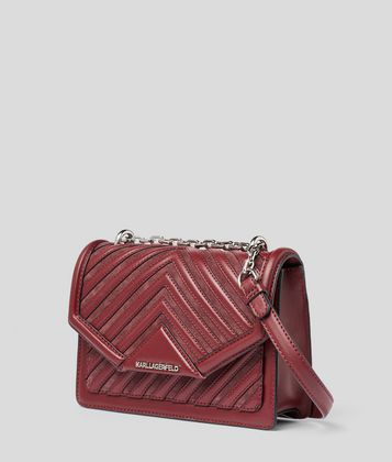 KARL LAGERFELD K/KLASSIK QUILTED SMALL SHOULDER BAG