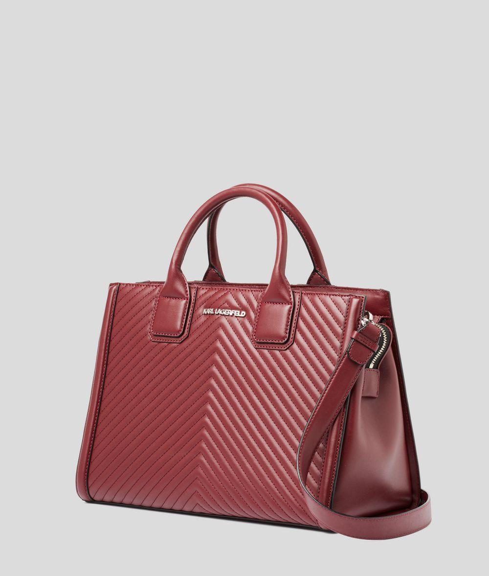 KARL LAGERFELD K/Klassik Quilted Top Handle Bag Tote Woman d
