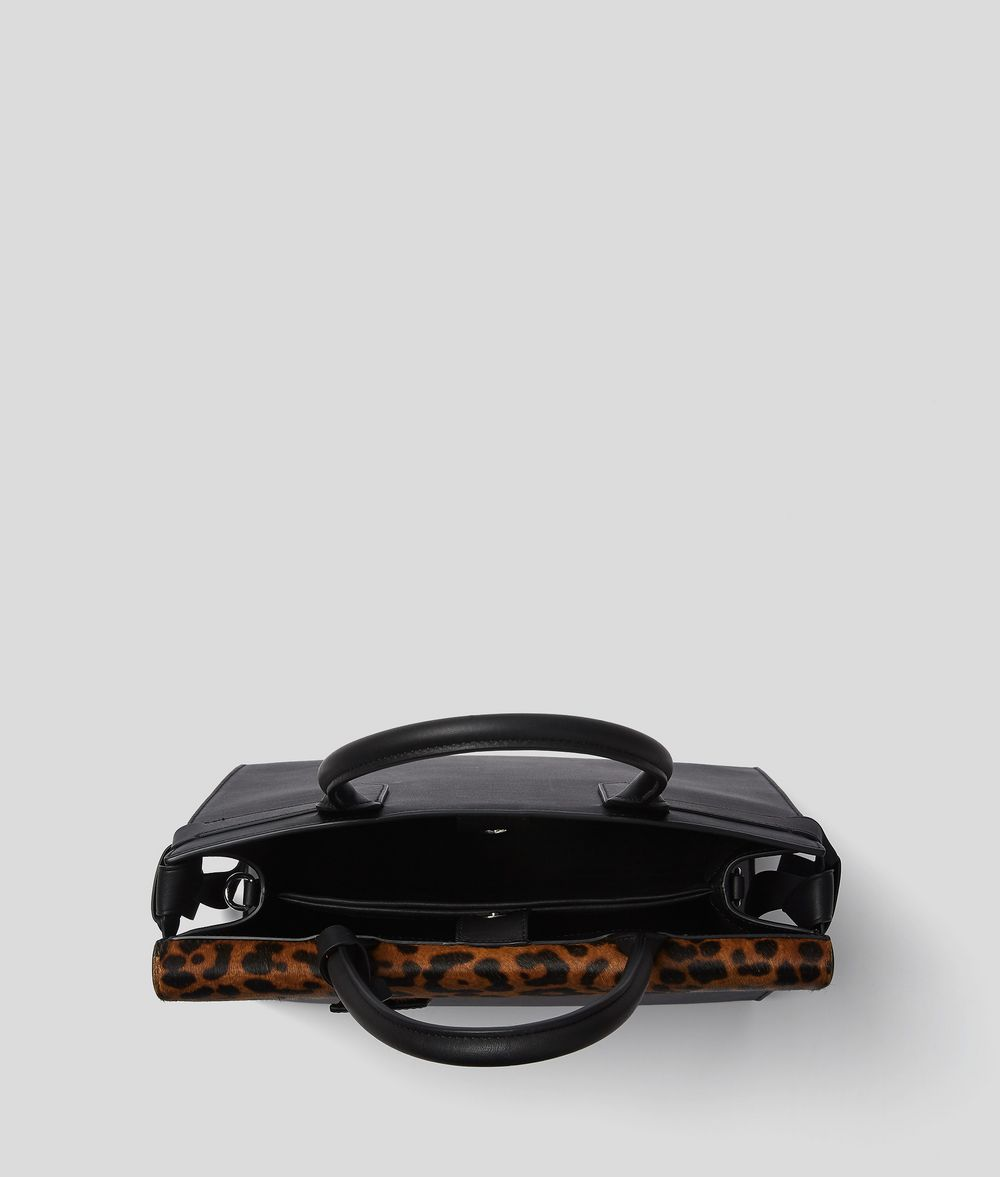 KARL LAGERFELD K/Ikon Leopard Top Handle Bag Handbag Woman d