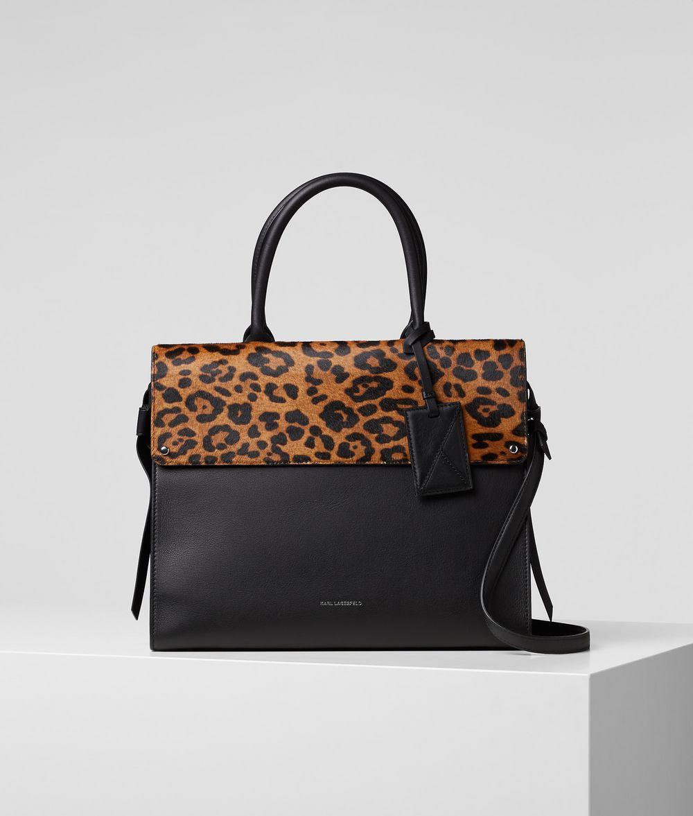 KARL LAGERFELD K/Ikon Leopard Top Handle Bag Handbag Woman f