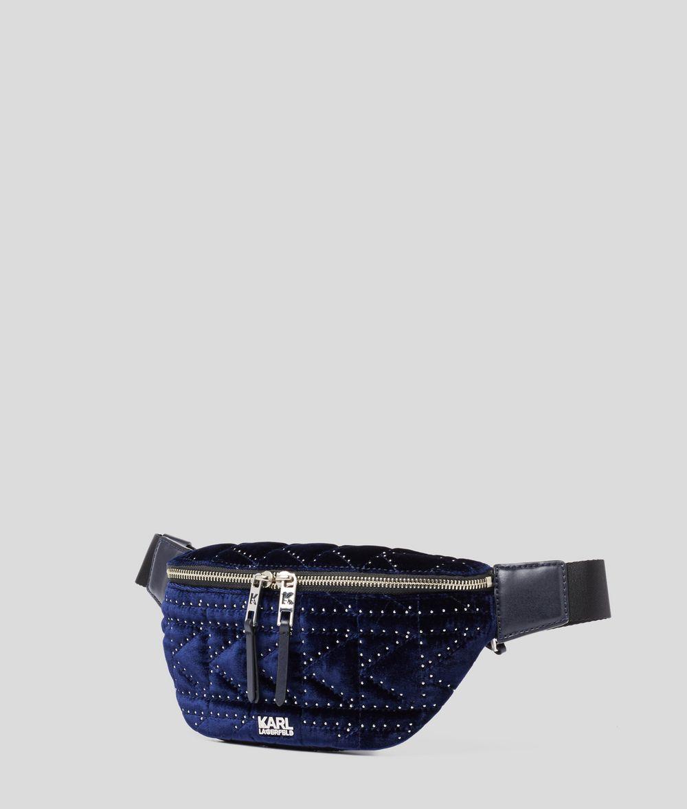 KARL LAGERFELD K/Kuilted Studs Velvet Belt Bag Fanny pack Woman d