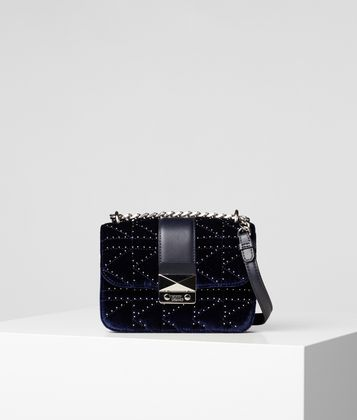 KARL LAGERFELD K/KUILTED STUDS CAMERA BAG