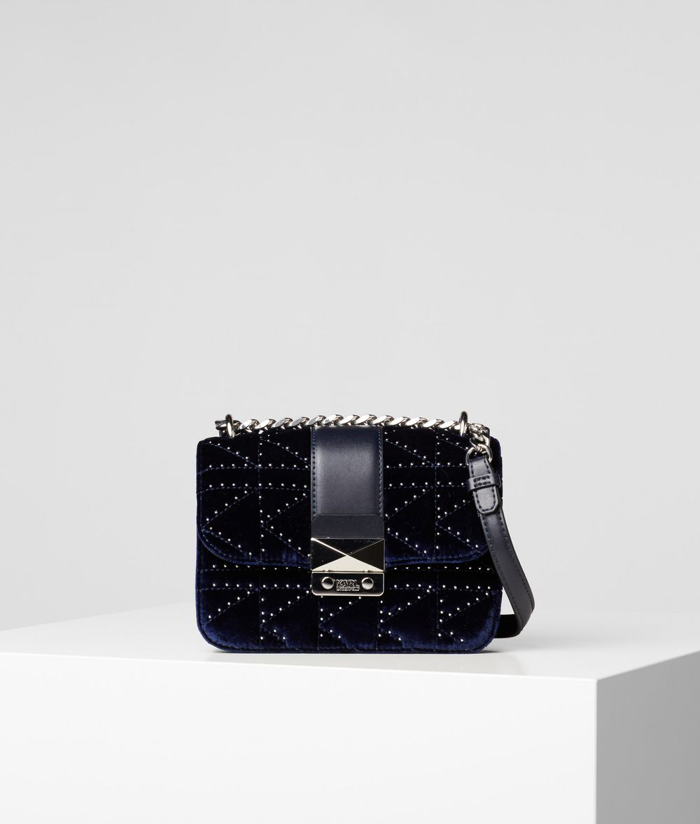 KARL LAGERFELD K/Kuilted Studs Camera Bag Crossbody Bag Woman f