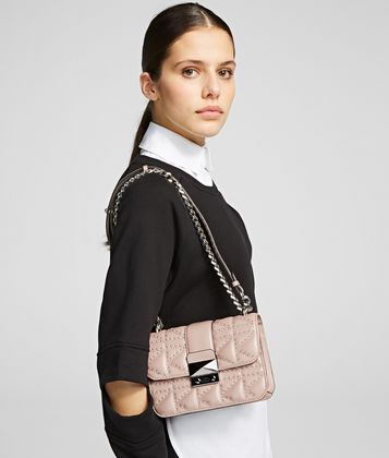 KARL LAGERFELD SAC BANDOULIÈRE CLOUTÉ K/KUILTED