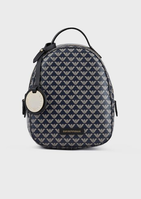 Backpack with all-over monogram