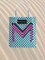 Marni Medium MARNI MARKET shopping bag in woven polypropylene with POP FOLK writing Man - 1