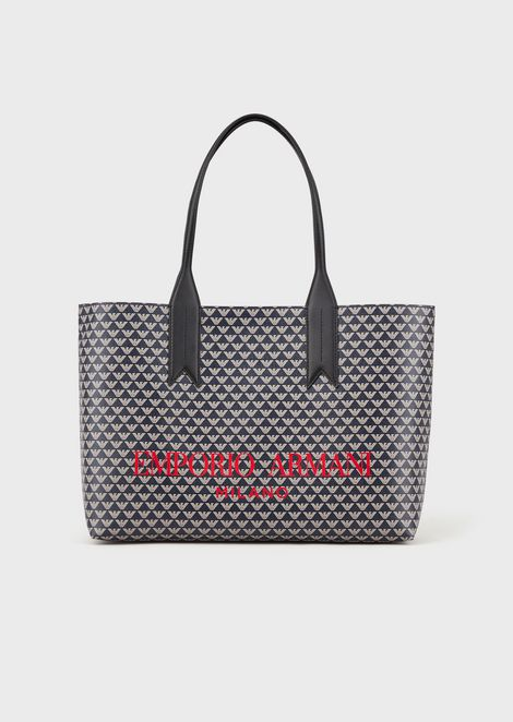 Shopper with all-over monogram