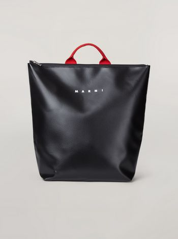 Marni Backpack in coated PVC with contrast shoulder straps Man f