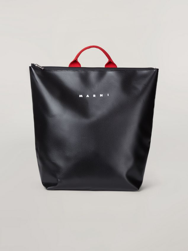 Marni Backpack in coated PVC with contrast shoulder straps Man - 1