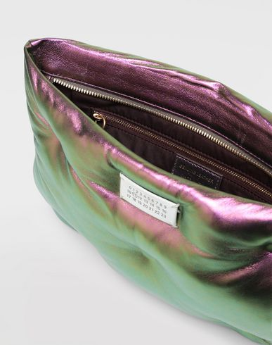 BAGS Glam Slam metallic pouch Purple